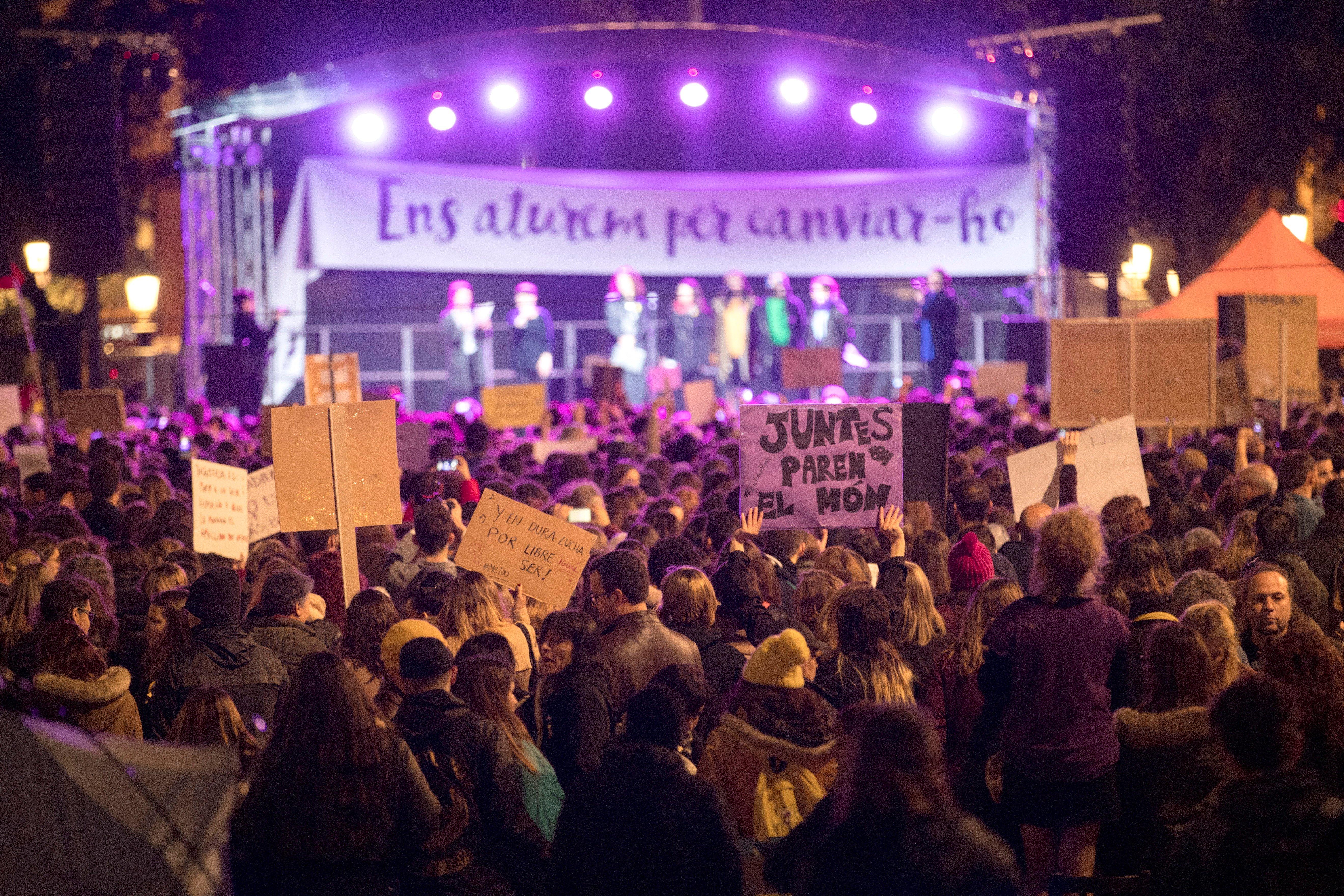 Manifestació del Dia Internacional de la Dona a Barcelona. /MARTA PÉREZ