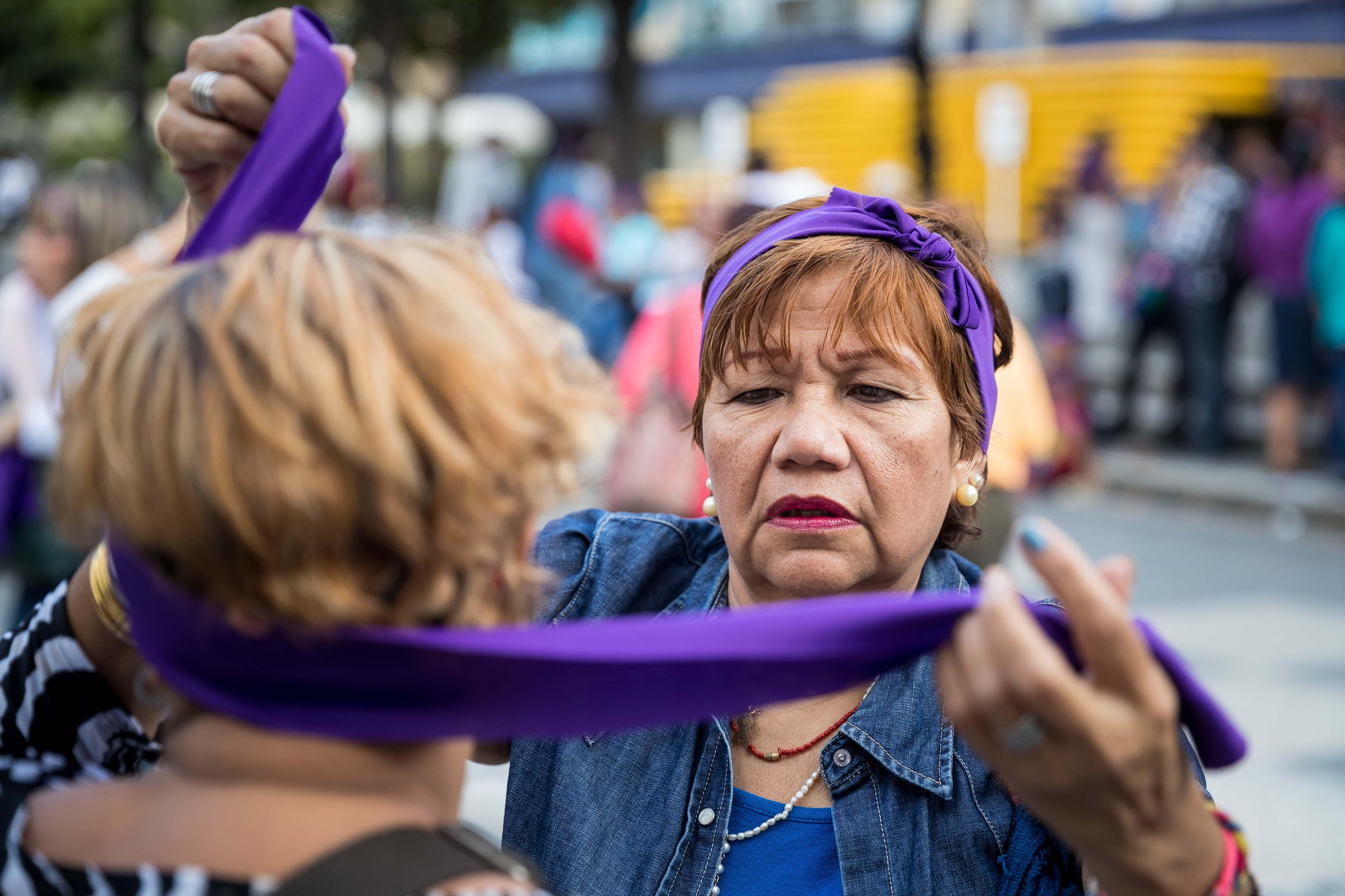 Commemoració del Dia Internacional de la Dona a Veneçuela. /MIGUEL GUTIÉRREZ