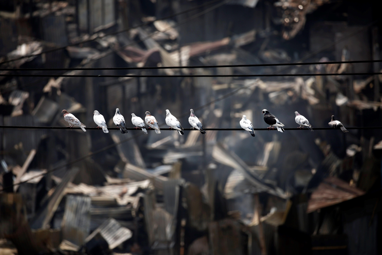 Milers de persones es queden sense casa després d'un incendi a Daca, Bangladesh./ABIR ABDULLAH