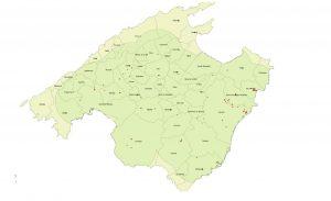 Positius a Eivissa i delimitació de la zona contenció. / CAIB