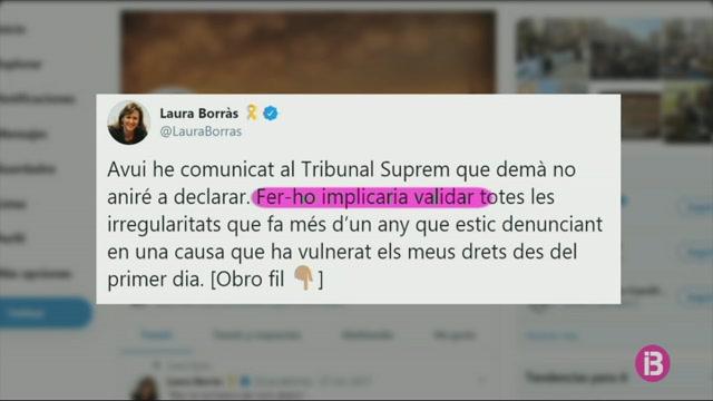 Laura+Borr%C3%A0s+no+es+presenta+volunt%C3%A0riament+al+TS+per+declarar