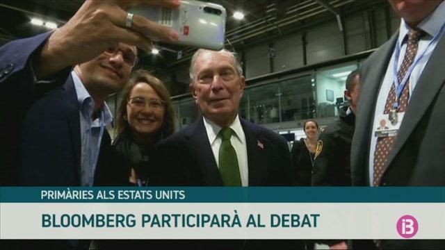 Michael+Bloomberg+participar%C3%A0+al+debat+entre+els+candidats+dem%C3%B2crates+a+la+presid%C3%A8ncia
