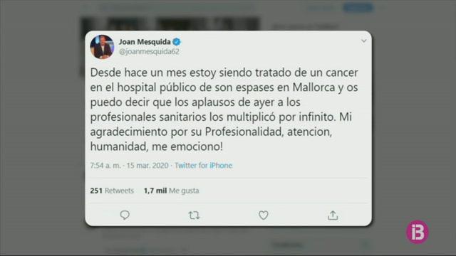 Joan+Mesquida+anuncia+que+t%C3%A9+c%C3%A0ncer
