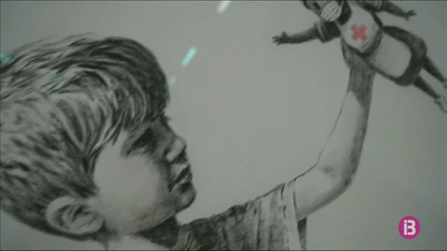 Banksy+ret+homenatge+als+sanitaris