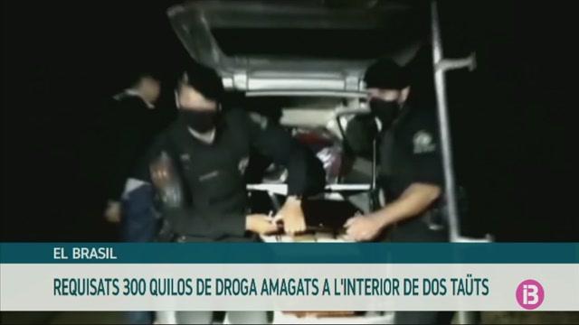 Amaguen+300+quilos+de+droga+a+dos+ta%C3%BCts+a+Brasil