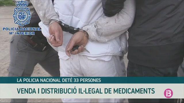 La+Policia+Nacional+det%C3%A9+33+persones+per+venda+i+distribuci%C3%B3+il%C2%B7legal+de+medicaments