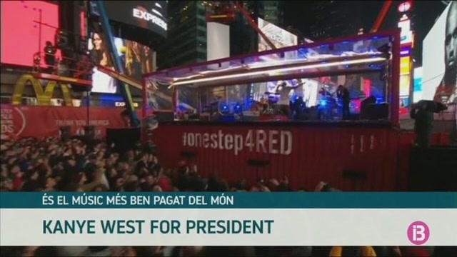 El+cantant+Kanye+West+vol+ser+president+dels+Estats+Units