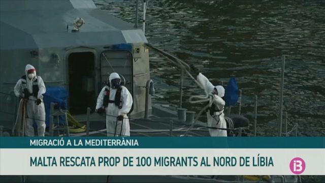 Malta+rescata+prop+de+100++migrants+al+nord+de+L%C3%ADbia