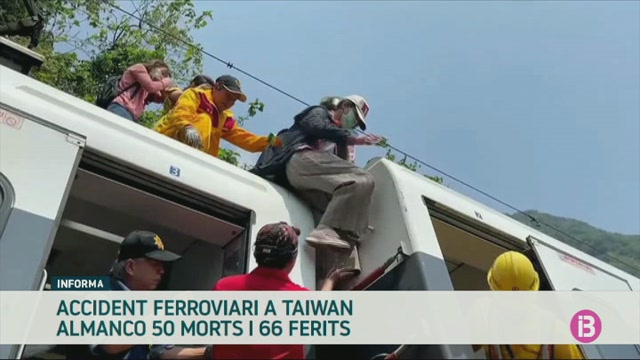 50+morts+a+Taiwan+pel+descarrilament+d%27un+tren