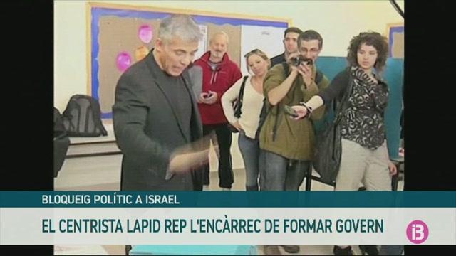 El+l%C3%ADder+centrista+israeli%C3%A0+Yair+Lapid+rep+l%27enc%C3%A0rrec+de+formar+Govern