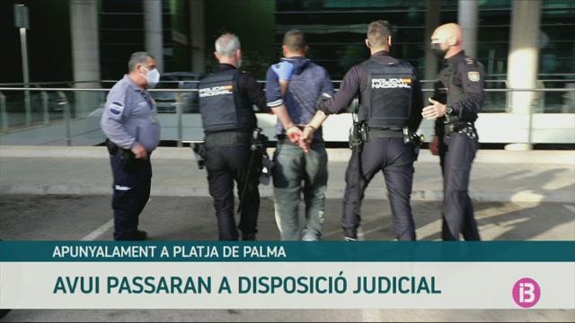 Passen+a+disposici%C3%B3+judicial+els+detinguts+per+l%27apunyalament+de+dissabte+a+Platja+de+Palma