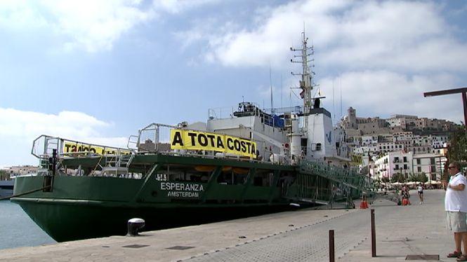 Greenpeace+rep+50+den%C3%BAncies+d%27agressions+a+la+posid%C3%B2nia+a+les+Piti%C3%BCses