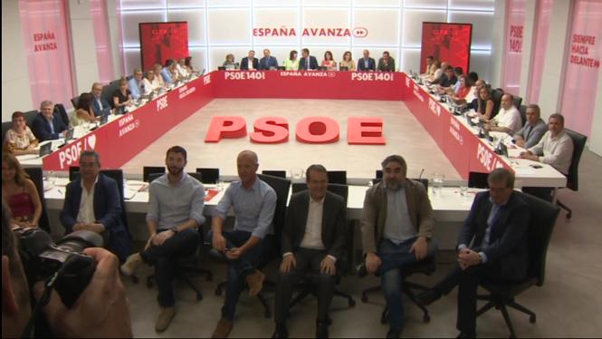 L%27executiva+del+PSOE+es+reuneix+per+abordar+la+sessi%C3%B3+d%27investidura
