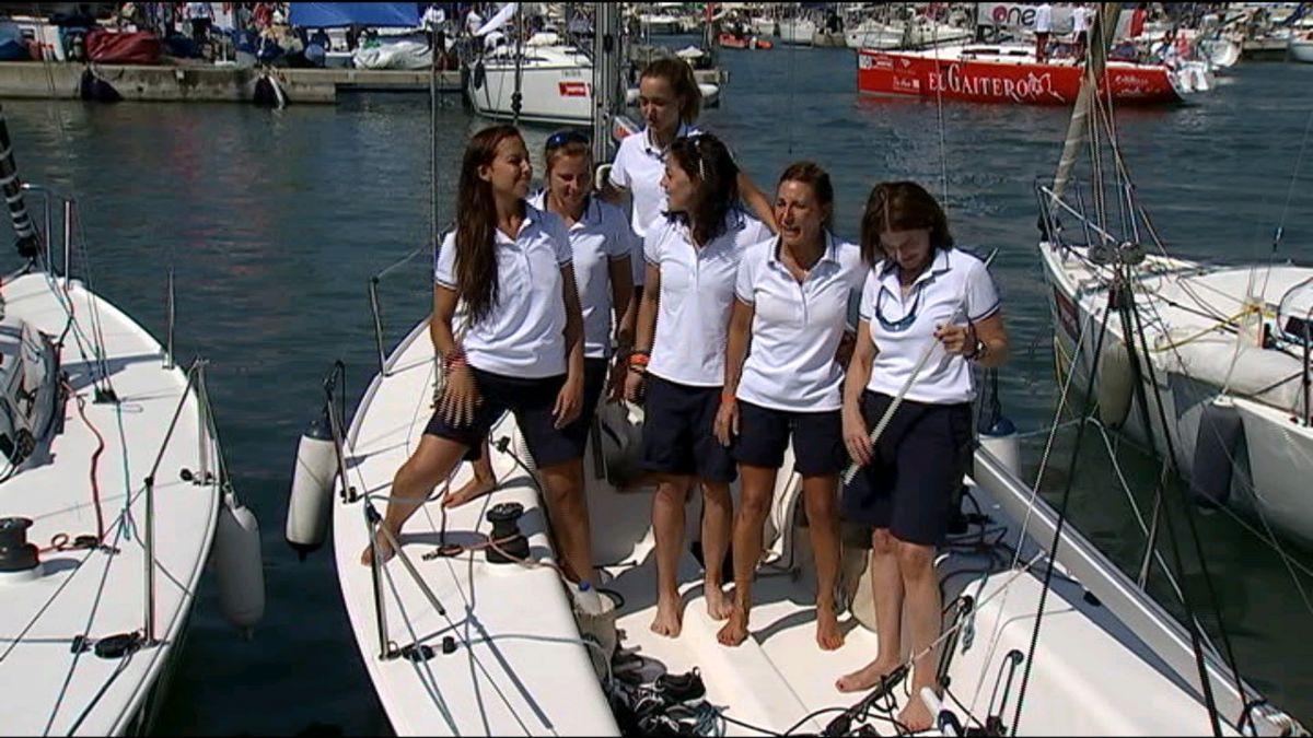 La+mallorquina+Laura+Homar+navega+amb+l%27%C3%BAnica+tripulaci%C3%B3+100%25+femenina+de+la+Copa+del+Rei
