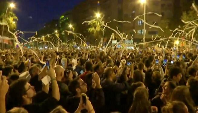 Tercer+dia+consecutiu+de+protestes+a+Catalunya