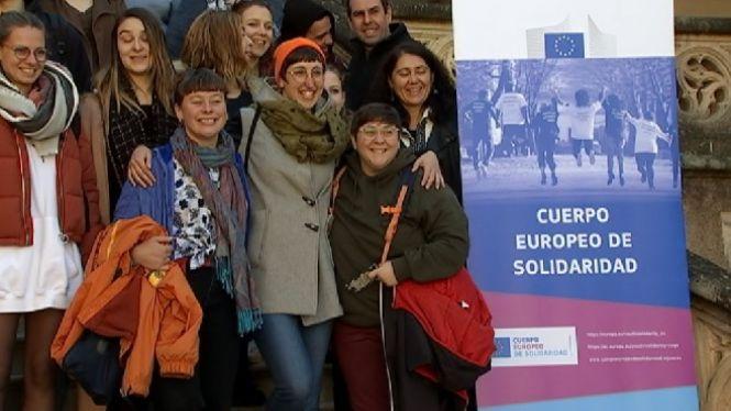 Una+desena+de+joves+del+Cos+Europeu+de+Solidaritat+comencen+projectes+de+voluntariat+a+Balears
