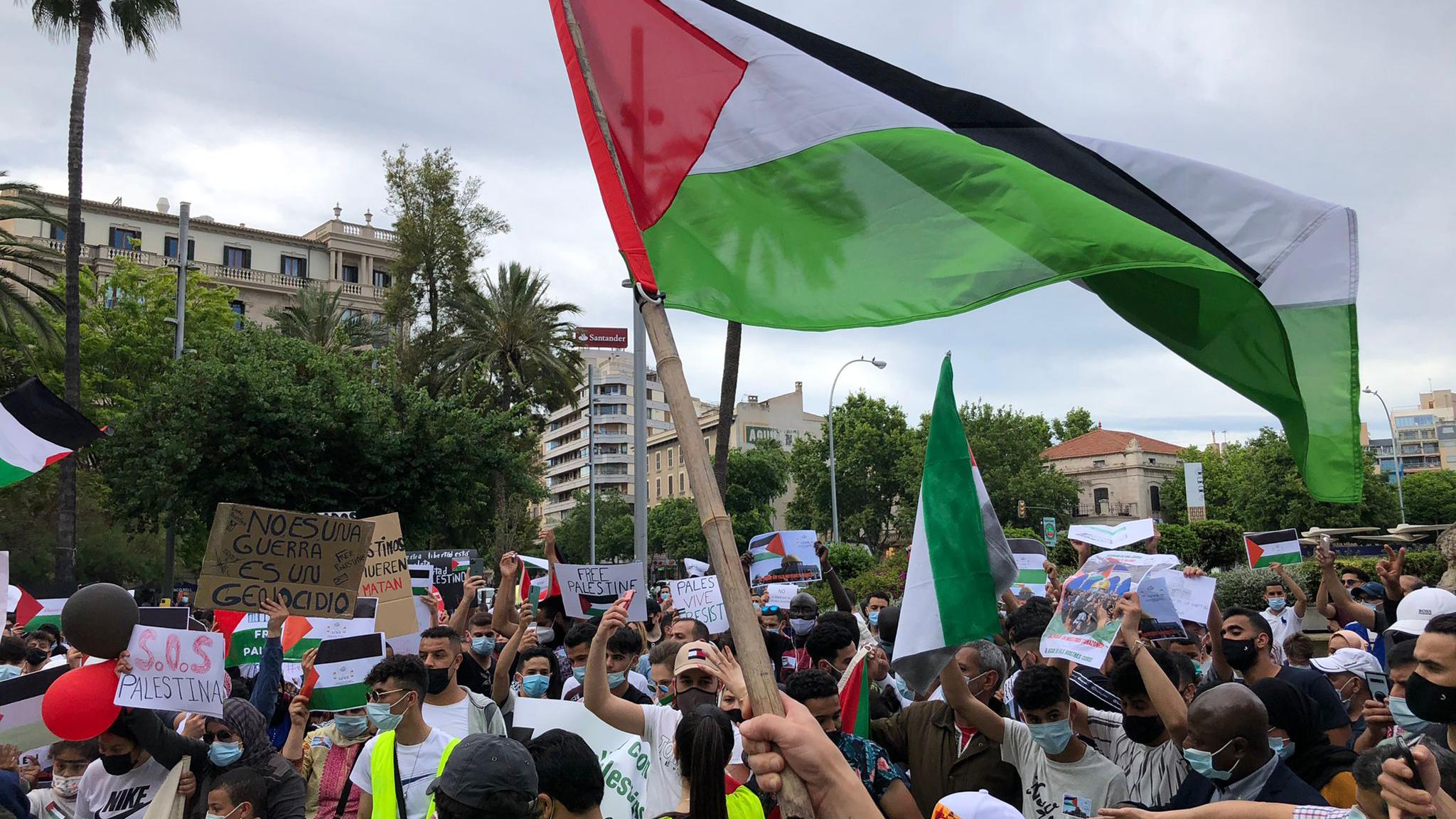 Manifestaci%C3%B3+a+Palma+a+favor+del+poble+palest%C3%AD
