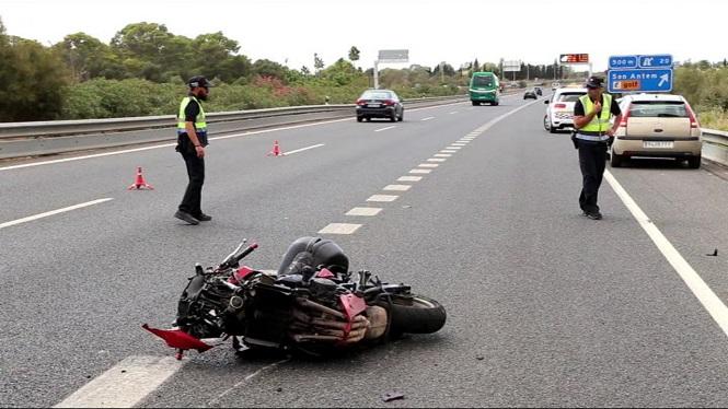 Greu+un+motorista+accidentat+a+l%27autopista+de+Llucmajor