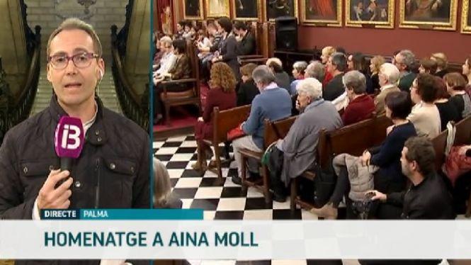 Acte+en+mem%C3%B2ria+d%27Aina+Moll+a+la+sala+de+plens+de+Cort