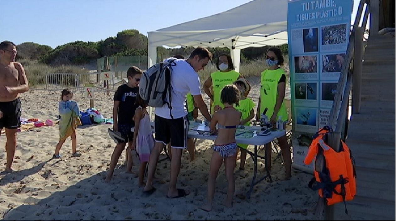 Voluntaris+del+Gen-Gob+vigilen+els+ous+de+tortuga+soterrats+a+la+platja+des+Cavallet