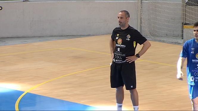 La+plantilla+del+Palma+Futsal+preparada+del+play-off