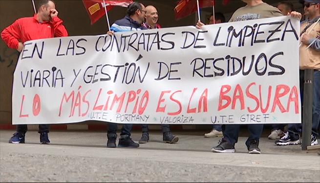 Els+treballadors+de+la+UTE+Portmany+avancen+la+vaga+indefinida+al+29+de+juliol