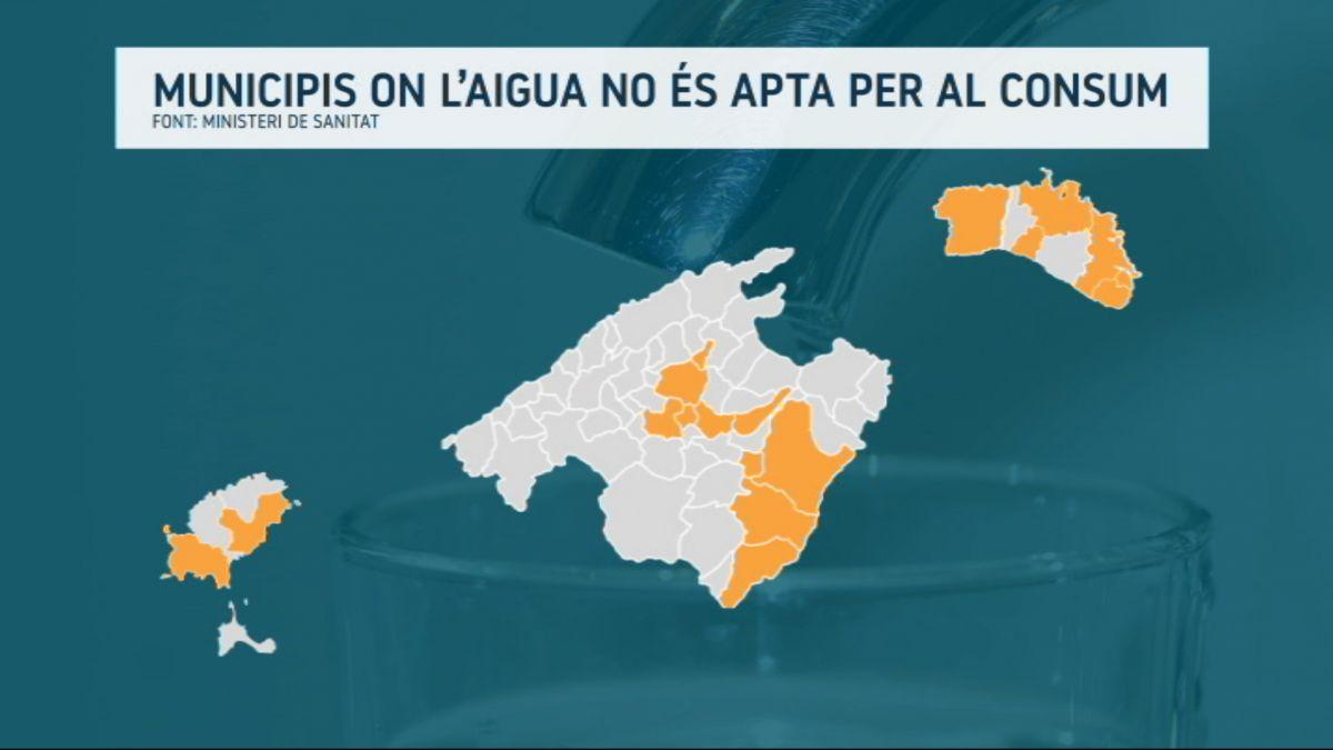 L%27aigua+corrent+de+18+municipis+de+les+Balears+no+%C3%A9s+apta+per+al+consum