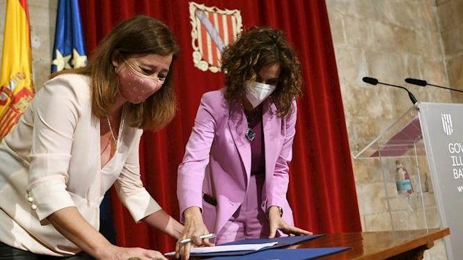 Signat+el+conveni+de+855+milions+en+ajudes+directes+per+a+les+empreses+de+Balears
