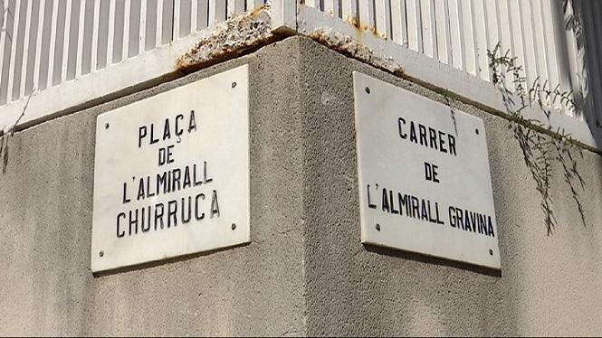 Retiren+el+segell+franquista+als+carrers+almiralls+Cervera%2C+Churruca+i+Gravina+de+Palma