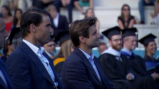 Rafel+Nadal+i+David+Ferrer+presideixen+l%27acte+de+graduaci%C3%B3+de+l%27Acad%C3%A8mia+de+Manacor