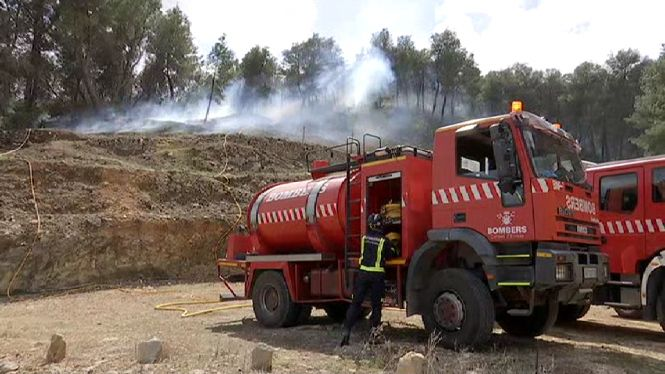 Declarat un incendi al bosc entre Sant Mateu i Sant Miquel