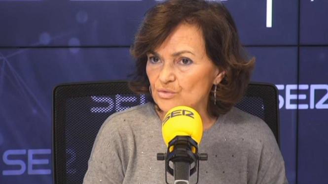 Carmen+Calvo+defensa+que+Joan+Carles+I+no+ha+fugit+d%27Espanya+davant+les+acusacions+d%27Unides+Podem