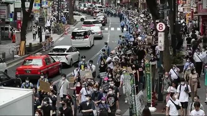 Les+protestes+per+l%27assassinat+de+George+Floyd+continuen+arreu+del+m%C3%B3n