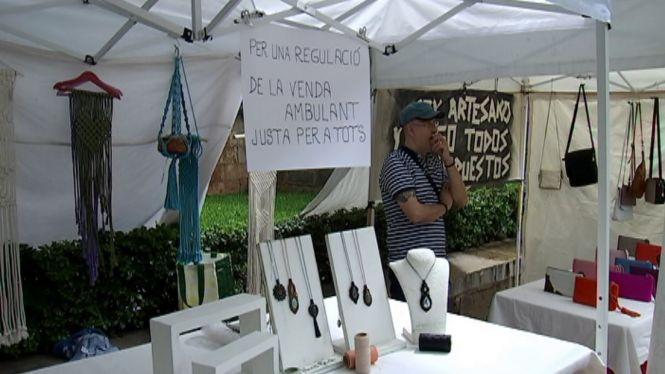 Els+artesans+clamen+contra+la+venda+ambulant+al+centre+de+Palma