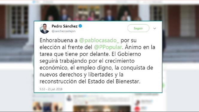 Pedro+S%C3%A1nchez+i+Albert+Rivera+feliciten+Pablo+Casado%2C+mentre+que+Pablo+Echenique+el+critica