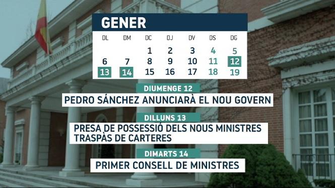 El+primer+Consell+de+Ministres+del+nou+govern+espanyol+ser%C3%A0+el+pr%C3%B2xim+dimarts