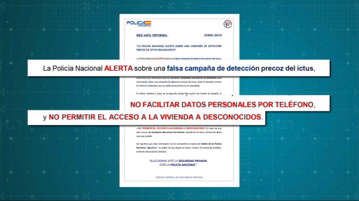 La+Policia+Nacional+alerta+d%27uns+estafadors+que+asseguren+detectar+l%27ictus+preco%C3%A7ment