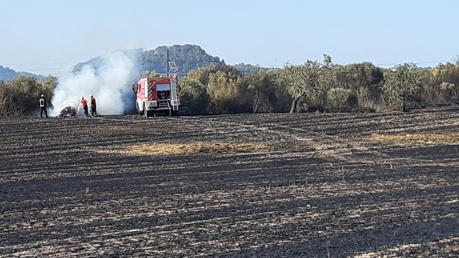 Un+incendi+a+Sant+Joan+interromp+durant+dues+hores+el+servei+de+tren+Palma+a+Manacor