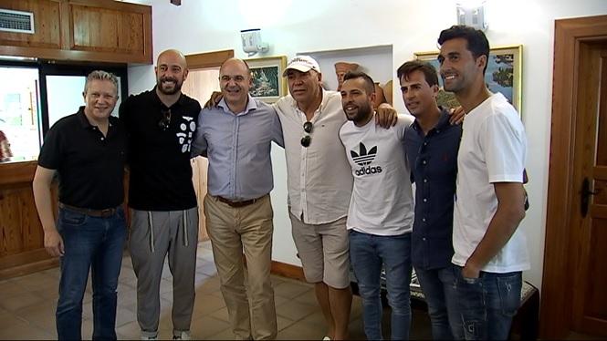 Els+internacionals+Jordi+Alba+i+Reina+participen+a+un+acte+a+Eivissa