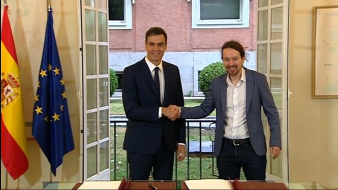 El+govern+espanyol+i+Podem+rubriquen+un+acord+pels+pressupostos+de+l%27Estat