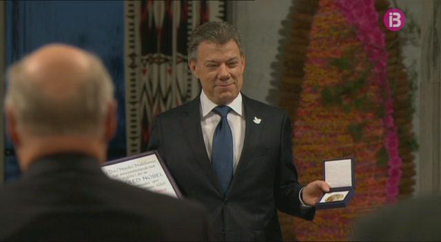 El+president+de+Col%C3%B2mbia+reb+el+Nobel+de+la+Pau