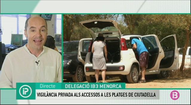 Tres+vigilants+jurats+reforcen+el+control+dels+accessos+a+les+platges+verges+de+Ciutadella
