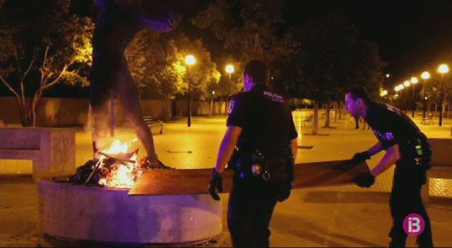Detingut+un+home+per+cremar+una+est%C3%A0tua+de+Jaume+Mir+a+Palma