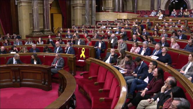 El+Parlament+de+Catalunya+rebutja+la+sent%C3%A8ncia+del+primer+d%27octubre