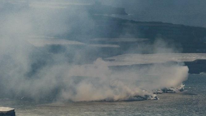 La+lava+del+volc%C3%A0+de+La+Palma+crea+un+delta+en+arribar+a+la+mar