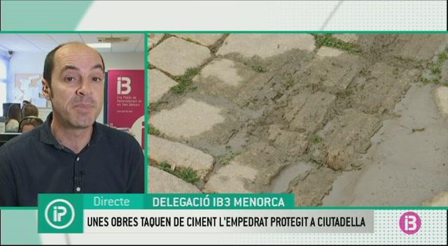 Unes+obres+taquen+de+ciment+l%27empedrat+tradicional+del+carrer+Sant+Crist%C3%B2fol+de+Ciutadella