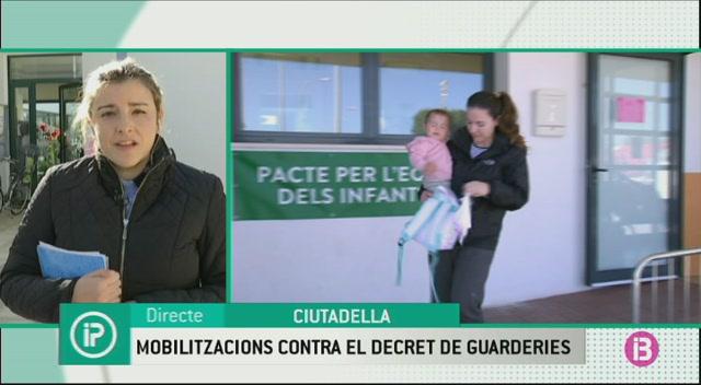 El+sector+educatiu+de+Menorca+protesta+contra+el+decret+de+les+escoletes