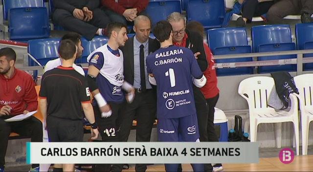 El+Palma+Futsal+perd+Carlos+Barr%C3%B3n+per+lesi%C3%B3