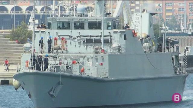 El+vaixell+Neptuno+de+l%27Armada+Espanyola+ja+%C3%A9s+de+cam%C3%AD+a+Mallorca