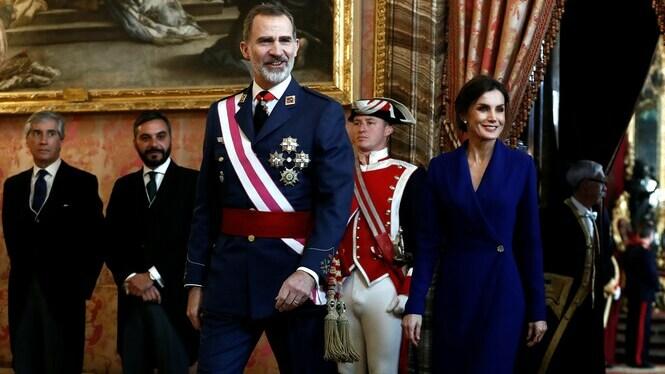 El+Rei+celebra+una+Pasqua+Militar+marcada+per+la+investidura+de+Pedro+S%C3%A1nchez